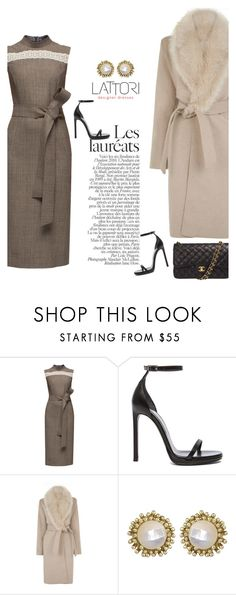 """LATTORI dress 27"" by mell-2405 ❤ liked on Polyvore featuring Lattori, Yves Saint Laurent, Warehouse, Kendra Scott, Chanel, women's clothing, women's fashion, women, female and woman"