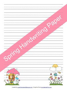 A free spring handwriting paper for kids.
