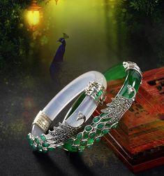 Bracelets En Argent Sterling, Sterling Silver Jewelry, Antique Jewelry, Jade Jewelry, Sea Glass Jewelry, Bracelet Jade, Cuff Bracelets, Magical Jewelry, Silver Bangles