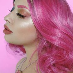 How about we go all pink come New Year? Yay or nay? :@alexandrametalclown #makeup #katvondbeauty