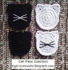 Ravelry: Cat Face Coasters pattern by Alexandra Richards ELK
