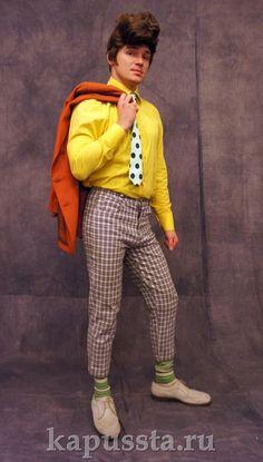 Яркий костюм в образе стиляг