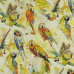 Macaw - Tropical fabric, from the Mardi Gras collection by Prestigious Textiles Curtains Made Simple, Tropical Fabric, Cushions To Make, Prestigious Textiles, Cotton Curtains, Curtain Fabric, Fabric Suppliers, Orange Fabric, Printed Linen