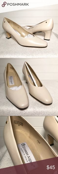 NWOT Etienne Aigner Taylor Ivory Pump Heels, 7.5 NWOT Beautiful Etienne Aigner Taylor leather pump heels. Gold emblem. Ivory color. 2.5in heel Size 7.5 Doesn't come with box. Comes from pet and smoke free home. Check out my other listings for bundle deals! Etienne Aigner Shoes Heels