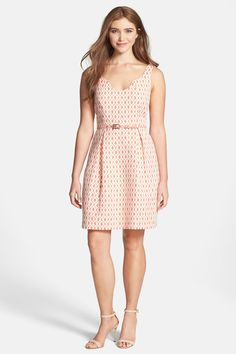 Trina Turk 'Solage' Jacquard Fit & Flare Dress by Trina Turk on @nordstrom_rack