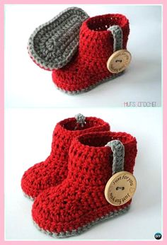 Crochet Ankle High Baby Booties Free Patterns Tutorials - # Check more at schuh. Crochet Ankle High Baby Booties Free Patterns Tutorials - # Check more at schuhe. Crochet Baby Boots, Crochet Socks, Crochet Baby Clothes, Diy Crochet, Crochet Ideas, Lace Socks, Tutorial Crochet, Knitted Baby, Crochet Beanie