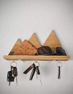 Make This: Wooden Mountain Key Rack   Man Made DIY   Crafts for Men   Keywords: outdoor, how-to, manmade-original, diy