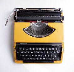 Vintage typewriter - Mustard Yellow - 1970s