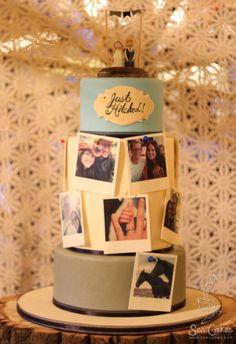 Edible Photograph Wedding Cake