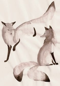 Two fox by ~Orphen-Sirius on deviantART