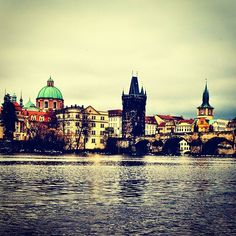 view from the banks of the river [beauty of a day in prague] Prague, Banks, Places To See, Louvre, River, Day, Building, Instagram Posts, Beauty