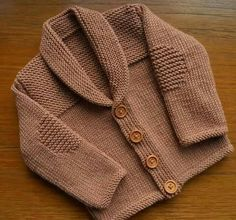 Cardigan/jacket For A Baby Boy Age Months, Approx Chest Ins, Luxury Merino/silk/cashmere Yarn In Light Brown Baby Knitting Patterns, Knitting For Kids, Baby Patterns, Kids Robes, Knitted Baby Cardigan, Cashmere Yarn, Baby Sweaters, Baby Boys, Classic Style