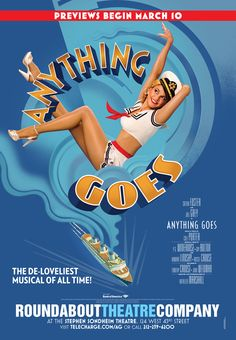 Anything Goes poster by Bonnie Clas