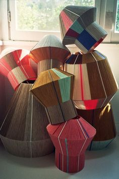 Ana Kras is an artist with a creative work on lighting design that amaze! Enjoy this Friday's Deco post! Ana Kras, Lampe Crochet, Diy Luminaire, Blinds For Windows, Window Blinds, Fabric Lampshade, Boho Home, Room Lamp, Bed Room