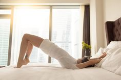 You can work your glutes any time, any where — even when you're on bed rest. Keep these exercises on hand. Pelvic Floor Exercises, Glute Exercises, Bed Workout, Bed Rest, Reverse Crunches, Womens Wellness, Excercise, Glutes, Ancient Art