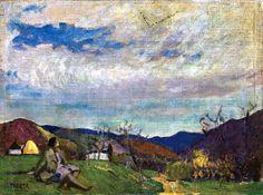 Thorma János (1870-1937) - On the hillside of Nagybánya, 1929