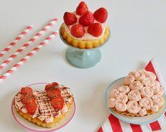REB´S KITCHEN: tortičky s kokosovým krémom a jahodami