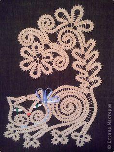 Картина панно рисунок Плетение на коклюшках Мои работы Нитки фото 1