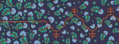 double cross sinusoida | floral