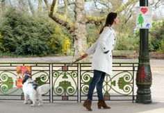 """Must love dogs: Match.com looks to find love for dog fans at """"Bark in the Park"""". The posters at dog level were scent infused by The Aroma Company to attract dogs, while posters at eye level appeal to their owners"""