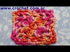 Pastilla cuadrada en crochet # 3 (granny square) - YouTube
