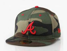 NEW ERA x MLB「Atlanta Braves Camo Pop」59Fifty Fitted Baseball Cap
