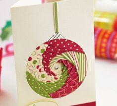Iris folding Christmas card