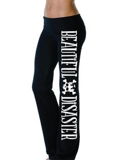 Yoga Pants for Women by Beautiful Disaster | Inked Shop #inked #inkedmag #inkedshop #beautiful #yoga #sale #pants #black