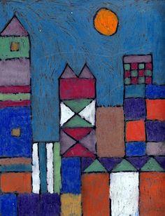 Art Projects for Kids: Paul Klee Oil Pastel Landscape