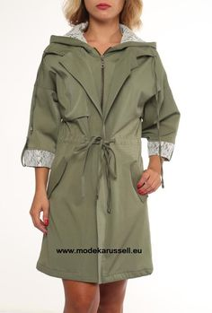 Trench Coat Isabell in Grün