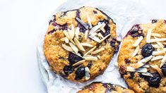 Blueberry Almond Breakfast Cookies. Blueberries and banana naturally sweeten these gluten-free cookies.
