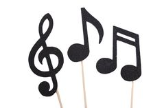 Music Note Cupcake Toppers Music Party Picks by MakeItMerryShop