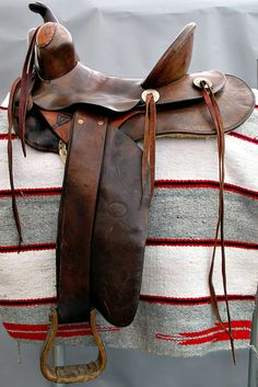 Old saddle in that it's not a competition saddle, but a real cowboy saddle used back in the day.