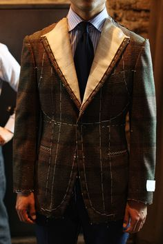 Tailorable & co. — Fox Flannel jacket up for second fitting. Bespoke Suit, Bespoke Tailoring, Flannel Jacket, Suit Jacket, Challenge Accepted, Mens Suits, Dapper, Custom Made, Gentleman