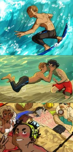 Oh my God is Pidge covered in sand