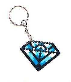Diamond keychain made, Hama mini.. $7.50, via Etsy.