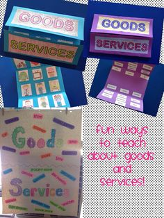 Here are some hands on activities to use with your students when teaching about goods and services!