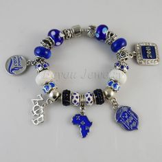 Bracelet.  ZETA PHI BETA Sorority  ZPB charm bead bracelet bangleDeep discounts on over 300 products that enhance your life from day to day! Items for men and women of all ages, also teenagers. Take a look at our #jewelry #handbags #outerwear #electronicaccessories #watches #umbrellas #gpspettracker  #Songbirddeals #Purses #sunglasses