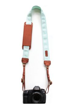 mint green camera strap - so cute!