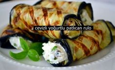 cevizli yoğurtlu patlıcan rulo tarifi – Salata meze kanepe tarifleri – Las recetas más prácticas y fáciles Appetizer Salads, Yummy Appetizers, Iftar, Yogurt Recipes, Healthy Recipes, Catering, Eggplant Rolls, Snacks Für Party, Turkish Recipes