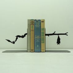 Bats Metal Bookends
