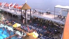 Found this home video on youtube that gives the basic idea of a cruise and what to expect on the ship. About the 7:37 mark you can see the adult only area. The ship looks nice and it's been renovated in the last 5 years. Carnival Fascination Ship Tour