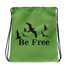 Be Free Kordelzugtasche – Feminisi Drawstring Backpack, Backpacks, Bags, Free, Sporty Style, Nice Asses, Purses, Totes, Backpack