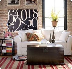 Love this Pottery Barn number canvas
