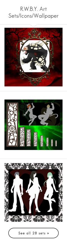 """R.W.B.Y. Art Sets/Icons/Wallpaper"" by cherrycokegrunge ❤ liked on Polyvore featuring art, anime, fandom, fantasy, rwbyfeelz and cherrycokegrunge"