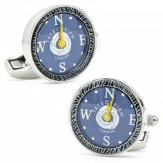 Nautical Mechanical Watch Cufflinks | Cufflinks.com $300
