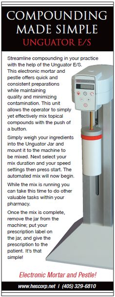 COMPOUNDING  MADE SIMPLE -   UNGUATOR E/S ----- (As seen in the 2012 Pharmacy Platinum Pages Buyer's Guide: rxplatinumpages.com)