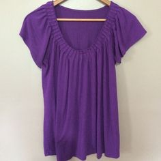 Purple rippled shirt Flowing purple top great for summer Tops Blouses