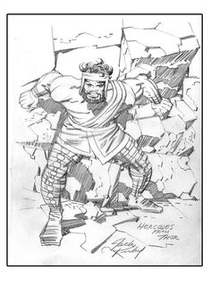 Drawing Comics Hercules from Thor Cap'n's Comics: Some Jack Kirby from the Amazing Valentine for Roz Comic Book Artists, Comic Artist, Comic Books Art, Character Drawing, Comic Character, Jack Kirby Art, Comic Book Collection, Comic Covers, Hercules