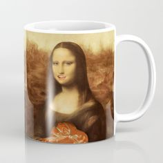 Mona Lisa Loves Valentine's Candy Coffee Mug by #gravityx9 Designs ~ #Spoofingthearts -  Worldwide shipping available at Society6.com. Just one of millions of high quality products available. #coffeemug #Valentinesdaymug #valentinesday